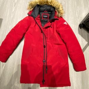 Red Guess Winter Jacket